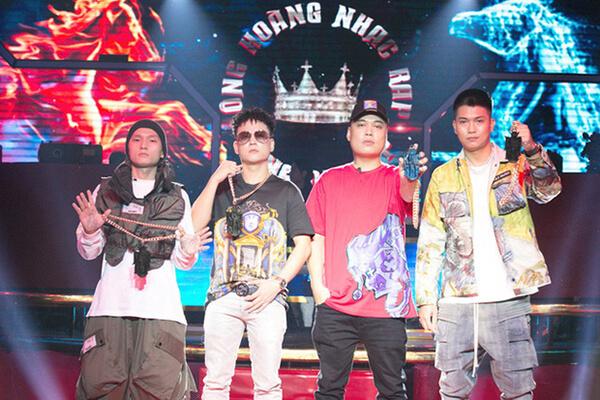4 vị giám khảo của King Of Rap: LK, Lil Shady, BigDaddy, Đạt Maniac.